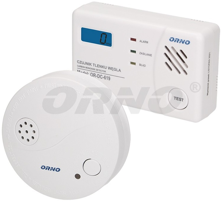 Pack Sensor Detector Alarme Autónomo de Gás Monóxido de Carbono e Fumo - ORNO