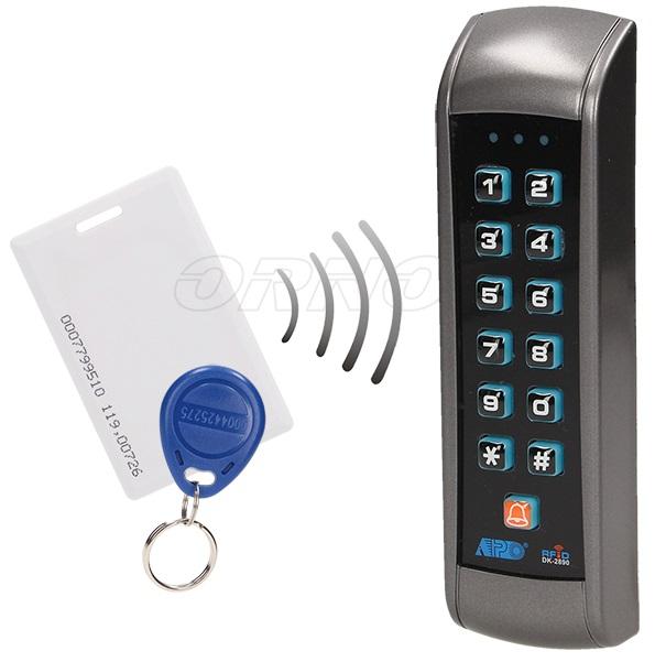 Leitor de Controlo de Acessos com PIN + Cartão e Tag de Proximidade 125kHz - ORNO