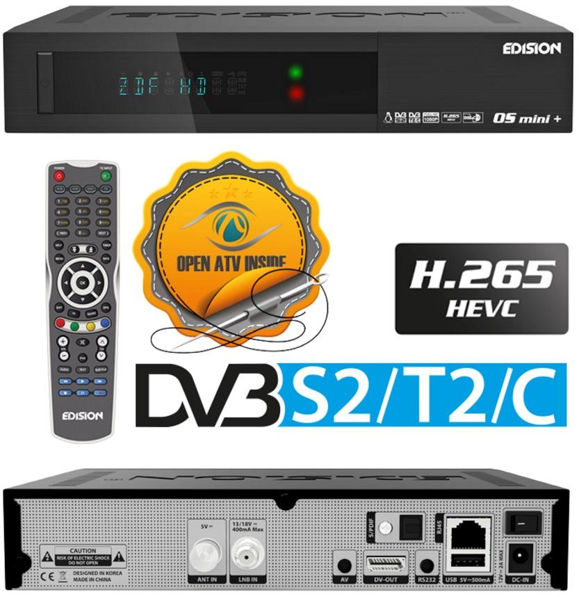 Receptor COMBO Satélite/TDT/Cabo DVB-S2/T2/C Full HD Ethernet (Linux/Enigma2) - EDISION