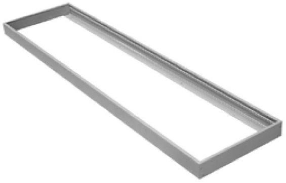 Aro Superficie Branco p/ Fixação Painel LED (120x30cm)