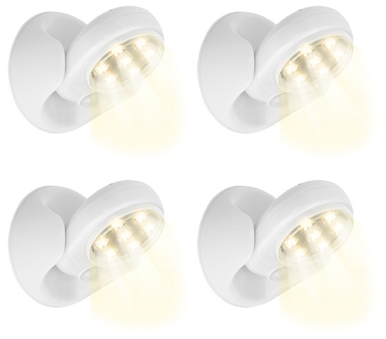 Pack 4 Projectores LED 360º c/ Sensor Movimento