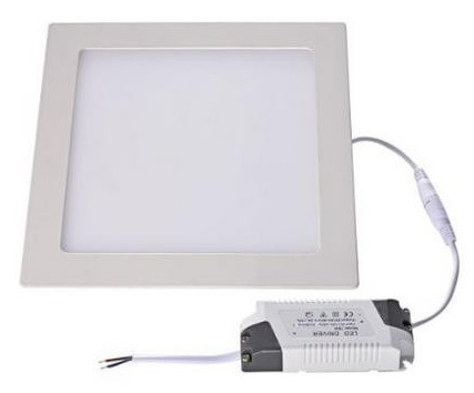 Painel de LED Quadrado (14,5 x 14,5 cm) 9W 3000K