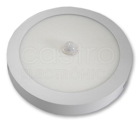 Painel de LED Redondo Superficie (Ø 21,5cm) 18W Branco F. 6000K 1620Lm c/ Sensor Movimento