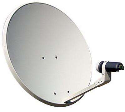 Antena Parabólica 1,10 mts Fixa Aluminio