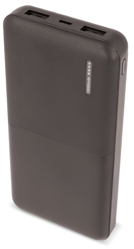 Banco Portatil de Energia (POWER BANK) 2x USB 10000mAh (Preto) - ProFTC
