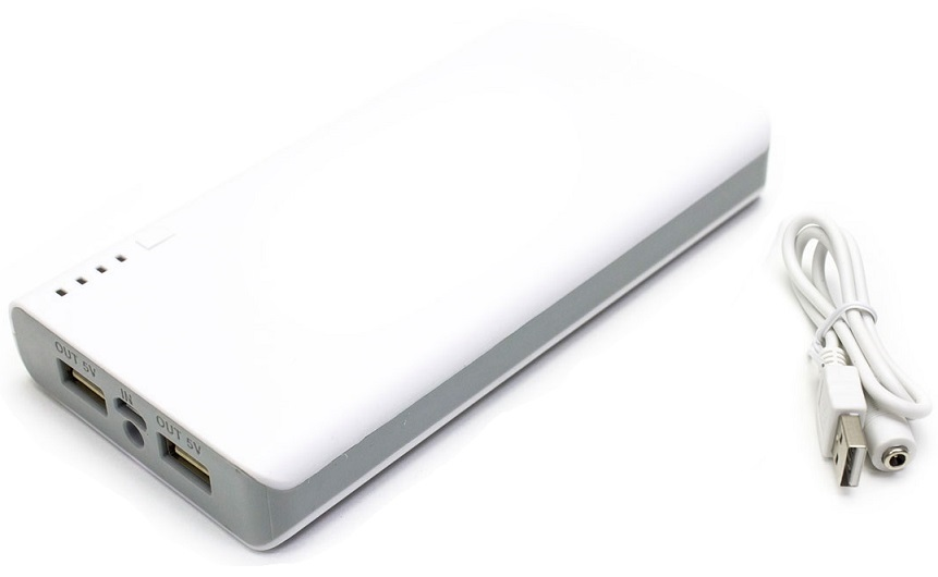 Banco Portatil de Energia (POWER BANK) 12000mAh c/ Laterna (Branco) - ProFTC