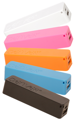 PowerBank 2600mAh 5V MicroUSB/USB - DENVER