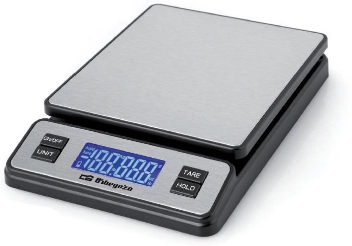 Balança Digital Precisão USB c/ Display 40Kg (2g) - ORBEGOZO