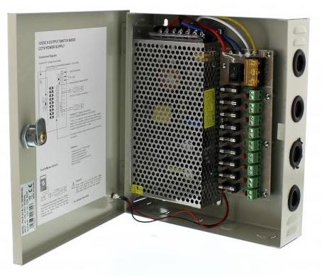 Caixa Segurança / Fonte Alimentação Comutada 12VDC 120W 10A (9 Saídas) - ProFTC