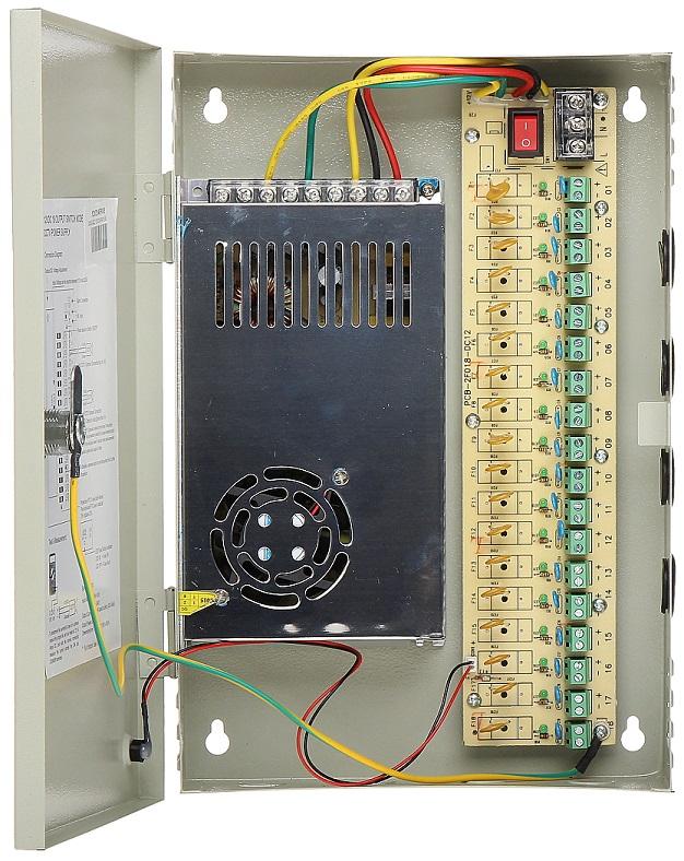 Caixa Segurança / Fonte Alimentação Comutada 12VDC 252W 21A (18 Saídas) - ProFTC