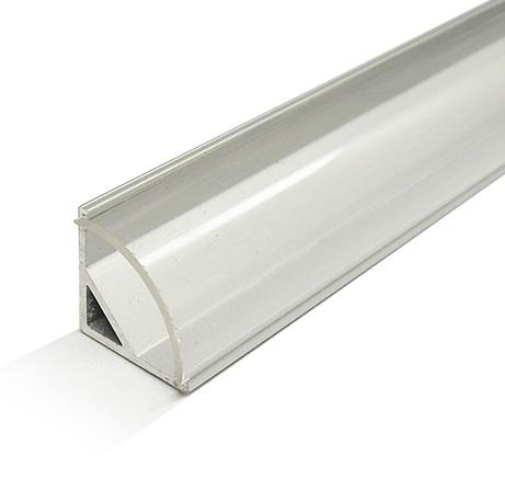 Perfil Alumínio c/ Difusor Transp. p/ Fita de LEDs - 2 mts