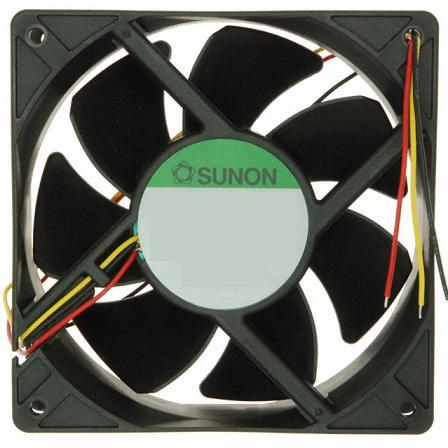 Ventilador 92x92x25mm 12V 4500RPM 4,7W (3 Fios) - SUNON