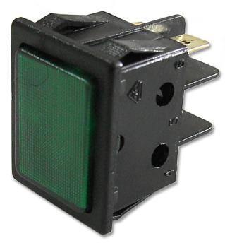 Avisador Quadrado Verde 220V