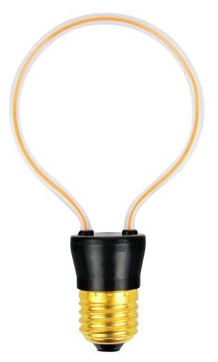 Lâmpada LED Decorativa E27 220V 4W 2200K 260Lm (Vidro ART3) - PLATINET