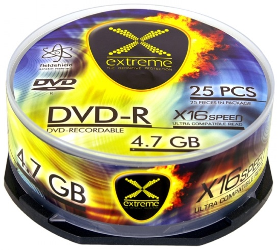 DVD-R 16x 4,7Gb (Pack 25) - EXTREME