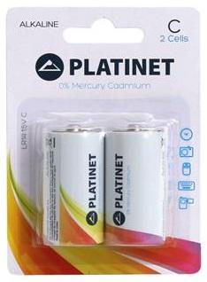 Blister 2 Pilhas Alcalinas 1,5V C / LR14 - PLATINET