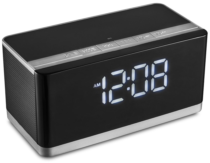 Rádio Relógio Despertador FM 10W RMS USB/microSD/BLUETOOTH - PLATINET