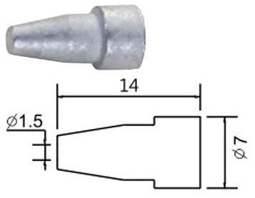 Bico 1,5mm p/ Pistola Dessoldar (Estação ZD-8915, ...)