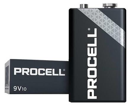 Emb. 10x Pilhas Ind. Alcalinas 9V 6LR61 - Duracell INDUSTRIAL