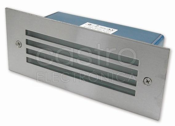 Projector Encastrar Muro/Chão Aluminio c/ Proteção LED 5W Branco F. 6000K 500Lm IP65