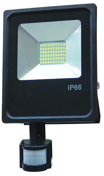 Projector LED IP65 220V Branco F. 6000K 50W c/ Sensor