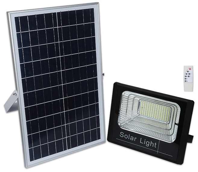 Kit Projector LED 200W Branco F. 6000K c/ Sensor + Painel Solar (IP67) - ProFTC