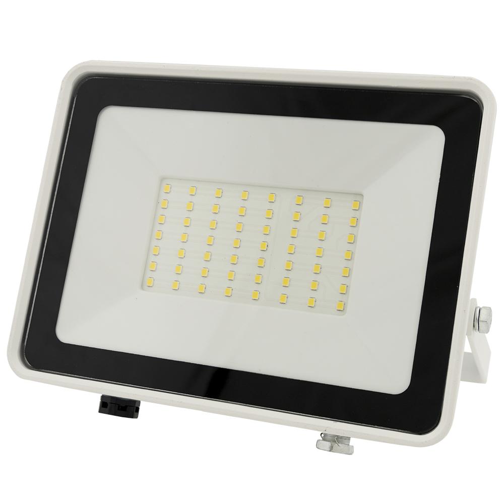 Projector LED Slim IP65 220VAC Branco Frio 6000K 50W (Branco) - ProFTC
