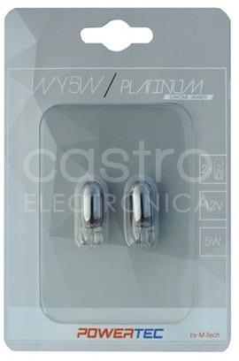Blister 2x Lampadas Halogéneo WY5W/T10 12V 5W (WEGDE Chrome)