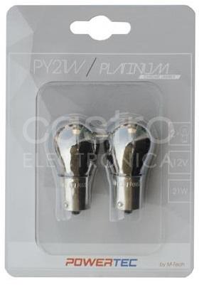 Blister 2x Lampadas Halogéneo PY21W 12V BAU15s (Chrome)
