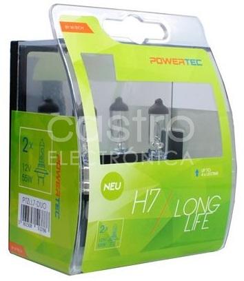 Pack 2x Lampadas Halogeneo (LONG LIFE) p/ Automóvel H7 55W 12V