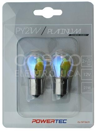 Blister 2x Lampadas Halogéneo PY21W 12V BAU15s (RAINBOW)