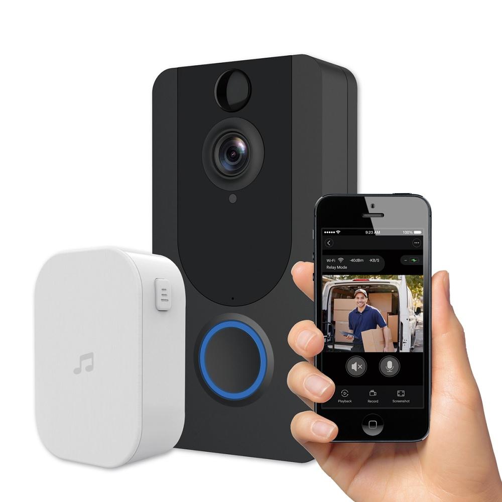Video Porteiro c/ Câmara Wi-Fi 1080p c/ Sensor Movimento - PLATINET