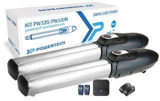 Kit Motores Batente c/ Acessórios até 500kg (24V) - POWERTECH