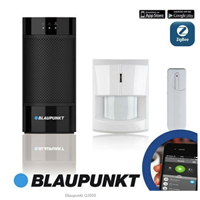 Kit Sistema de Alarme IP s/ Fios - BLAUPUNKT Q3000 Starter Kit