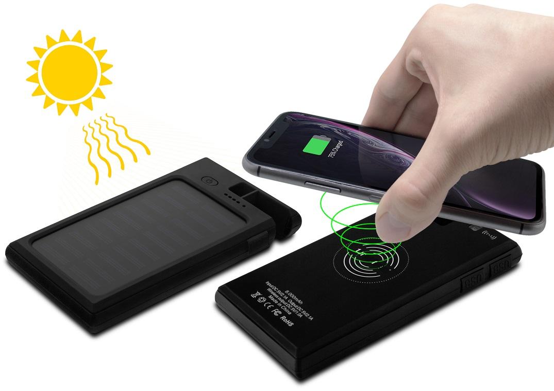 PowerBank Solar 8000mAh c/ Carregamento Indução Qi Charger - ProFTC