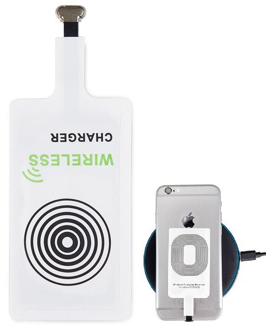 Adaptador Indução Comp. iPhone 5/5S/5C/SE/6/7 p/ Carregador Indução sem Fios - ProFTC