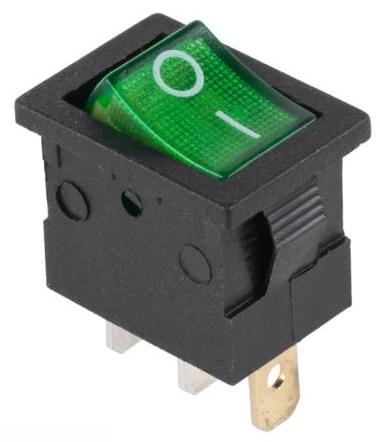 Interruptor ON-OFF Mini Luminoso 12V 15A - Verde