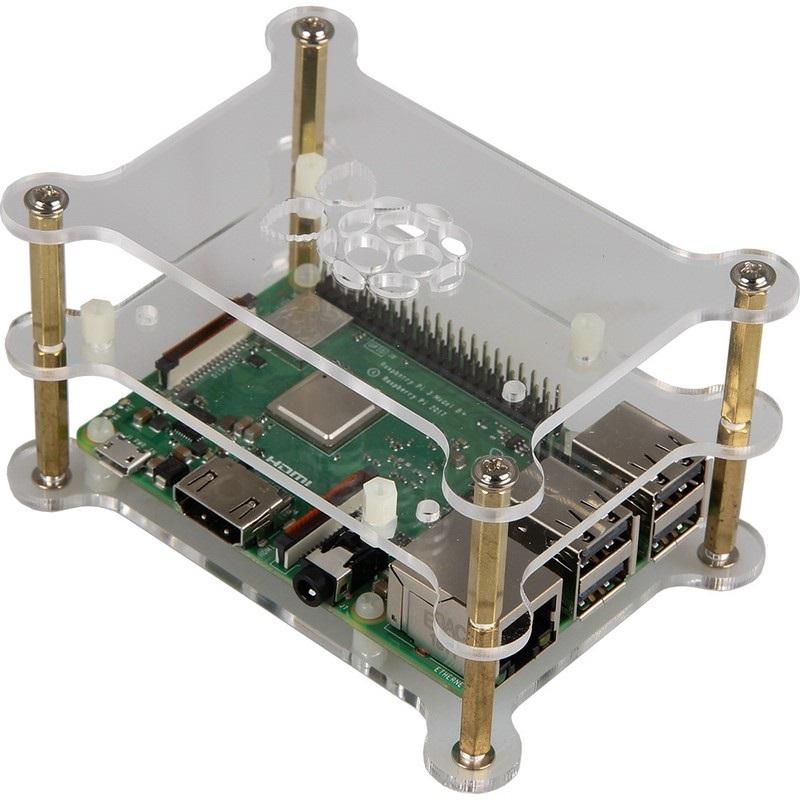 Caixa Dupla em Acrílico p/ Raspberry Pi 2/3/4B+