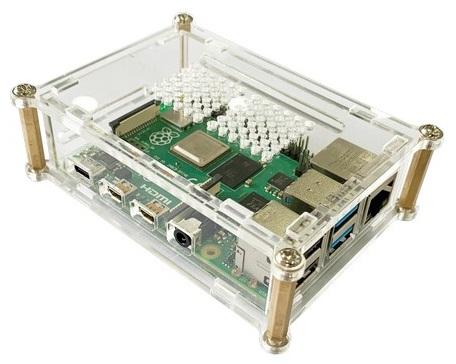 Caixa em Acrílico p/ Raspberry Pi 4