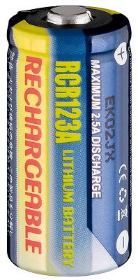 Pilha Recarregável Li-Ion CR123 3V 500mAh - NIMO