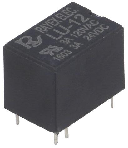 Relé Mini SPDT 12VDC 2A - RAYEX LU-12
