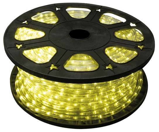 Mangueira Luminosa LED Amarelo (45 mts) - HQ POWER