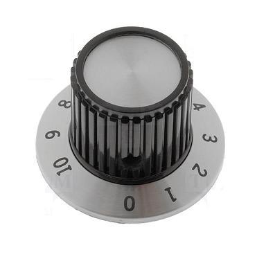 Botão Cromado com Calibração p/ Potenciometros Ø22.7x23.7mm