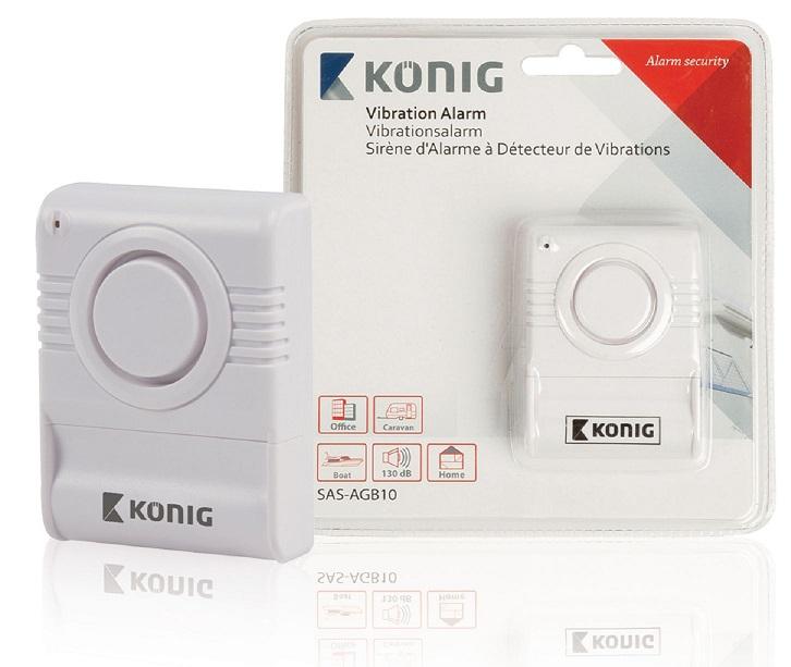 Sensor Detector s/ Fios Contra Quebra de Vidros (130dB) - KONIG