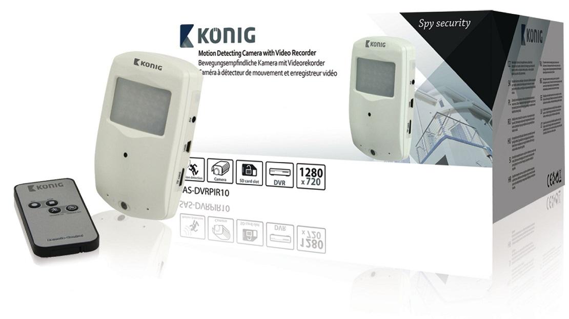 Sensor Movimento c/ Camara Oculta 720L e Gravador - KONIG