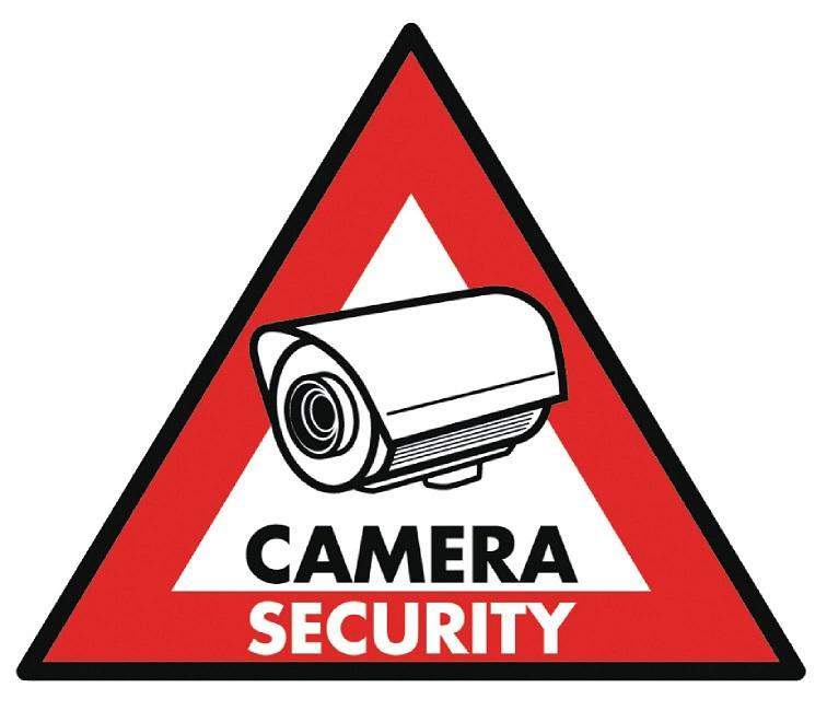 Saca 5 Sinaléticas PVC p/ Aviso Sistema Vigilância 123x148mm