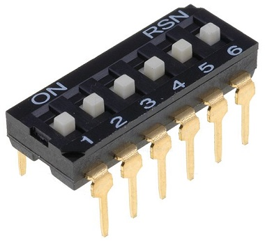 Dip Switch 6 Selectores