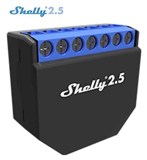 Módulo Comutador p/ Automação Wi-Fi c/ Controlo de Estores Eléctricos - Shelly 2.5