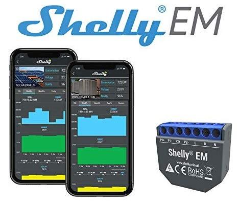 Módulo Medidor de Consumo Duplo p/ Automação Wi-Fi - Shelly EM