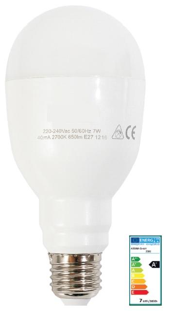 Lampada LED Emergência/Bateria E27 220V 7W Branco Q. 3000K 650Lm - ProFTC